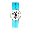Bracelet double tour cuir bleu Siriya - Missteegreen