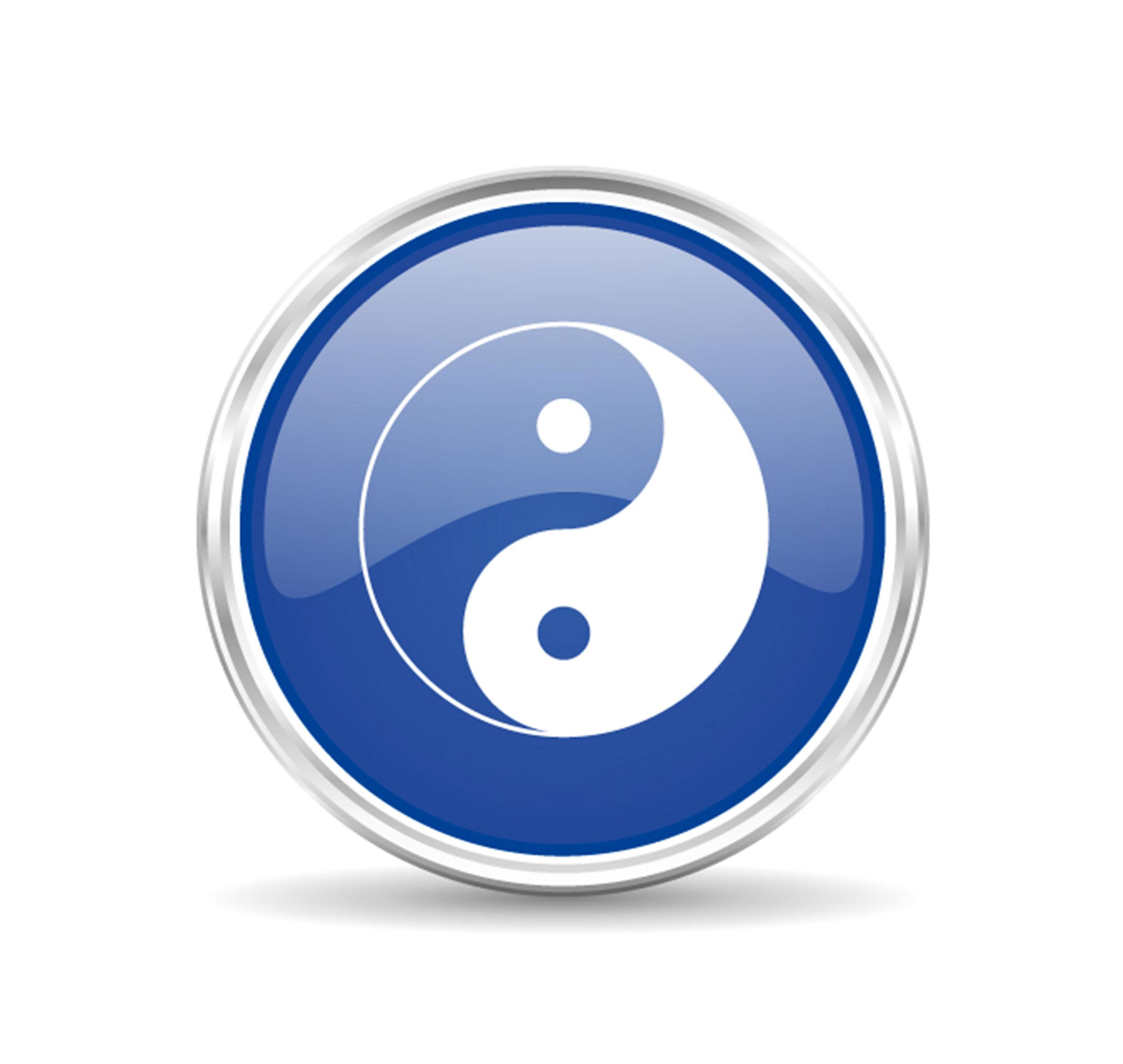 Marqueur de balle golf collection peace yin-yang bleu - Missteegreen