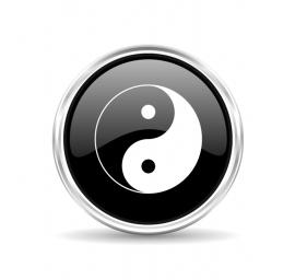 Marqueur de balle golf collection peace yin-yang noir - Missteegreen