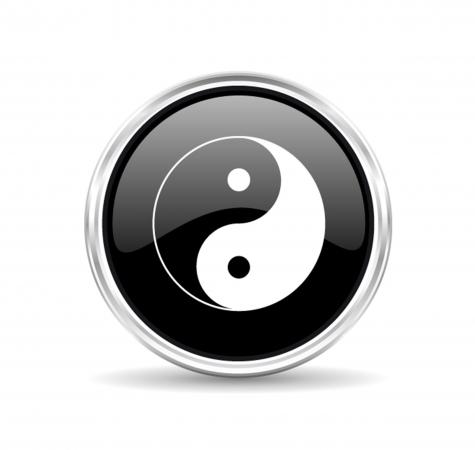 Marqueur de balle golf collection peace yin-yang noir – Missteegreen